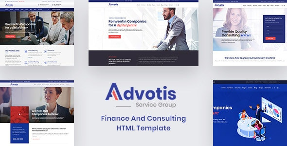 Advotis - Finance And Business Consulting HTML Template - Business Corporate