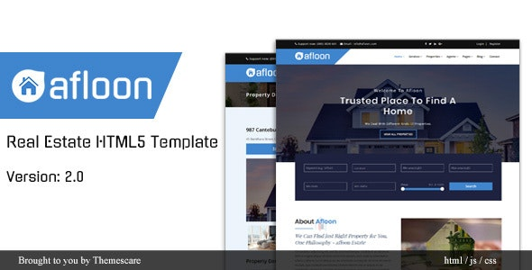 Afloon - Real Estate HTML5 Template - Corporate Site Templates