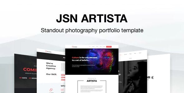 JSN Artista - Standout Photography Portfolio Joomla Template
