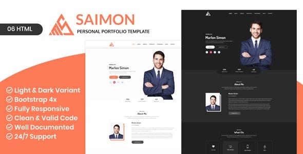 Saimon - Personal Portfolio HTML Template - Portfolio Creative