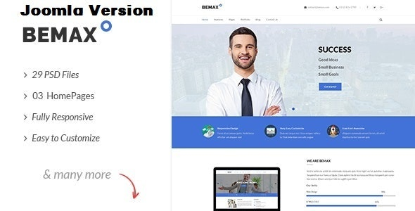 Bemax - Multipurpose Corporate Business Joomla Template - Business Corporate