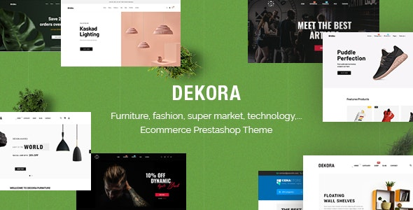 Dekora - Multipurpose Responsive Prestashop 1.7.6.x, 1.7.5.x Theme - Shopping PrestaShop