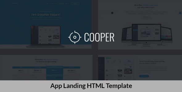 App Landing HTML Template - Technology Site Templates