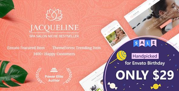 Jacqueline | Spa & Massage Salon WordPress Theme - Health & Beauty Retail