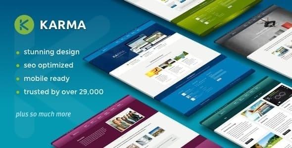 Karma - Responsive WordPress Theme - Corporate WordPress