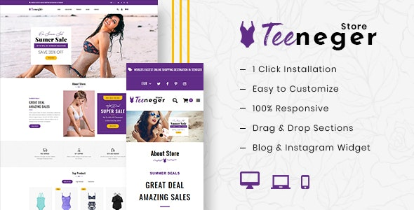 Teeneger - Shopify MultiPurpose Responsive Theme - Shopify eCommerce
