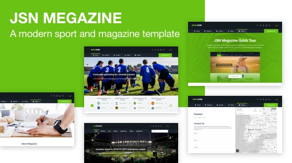 JSN Megazine - Responsive Modern Sport and Magazine Template for Joomla - Blog / Magazine Joomla