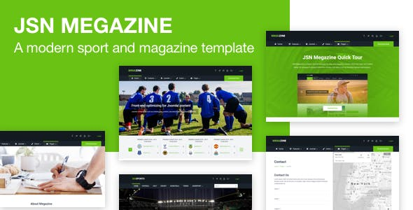 JSN Megazine - Responsive Modern Sport and Magazine Template for Joomla
