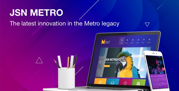JSN Metro - Responsive Flat Design Template for Joomla
