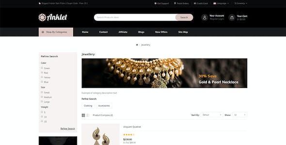 Anklet - Multipurpose OpenCart 3 Theme