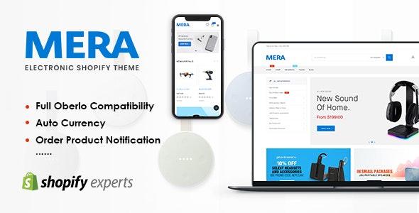 Mera - Electronics Responsive Shopify Theme - Shopify eCommerce