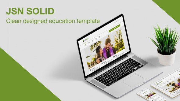 JSN Solid - A Clean & Responsive Education Template for Joomla - Joomla CMS Themes