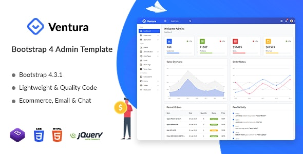 Ventura - Ecommerce Admin Dashboard Template by dreamguys
