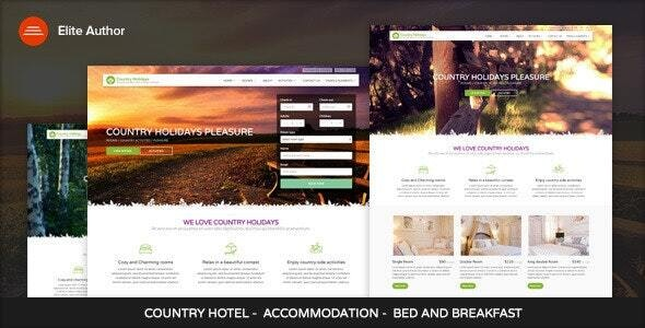 CountryHolidays - WordPress Country Hotel and Bed - Travel Retail
