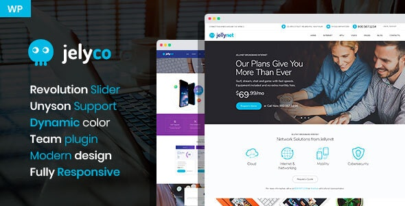 JelyCo - ISP & Telecom WordPress Theme - Hosting Technology