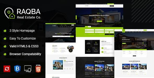 Raqba - Real Estate HTML Template - Business Corporate