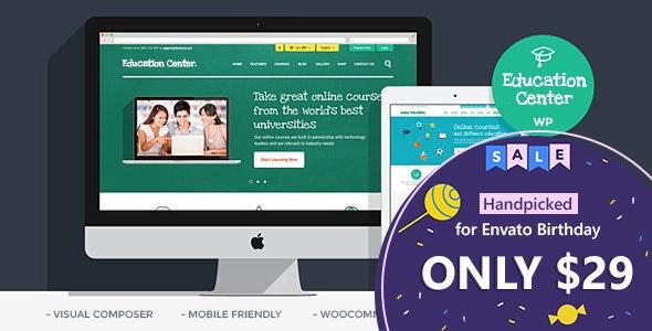 Education Center   Training Courses WordPress Theme - Education WordPress