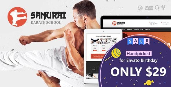 Samurai | Karate School and Fitness Center WordPress Theme - Health & Beauty Retail