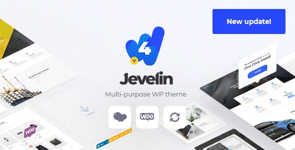 Jevelin Multi-Purpose Premium Responsive WordPress Theme - Creative WordPress