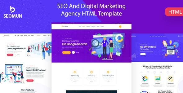 Seomun - Digital Marketing Agency HTML5 Template - Business Corporate