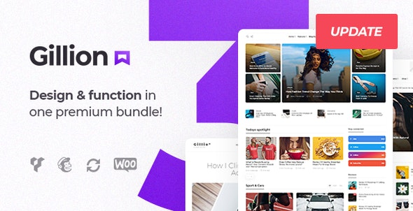 Gillion | Multi-Concept Blog/Magazine & Shop WordPress AMP Theme - News / Editorial Blog / Magazine