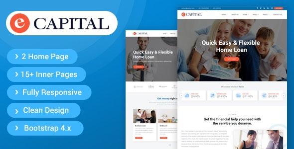 eCapital - Loan Company Responsive HTML5 Template - Miscellaneous Site Templates