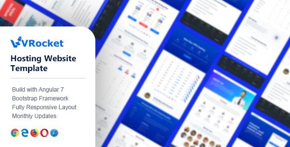 VirtualRocket - Angular Multipurpose Template - Corporate Site Templates