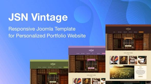 JSN Vintage - Responsive Joomla Template for Personalized Portfolio Website - Creative Joomla