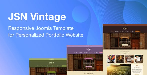 JSN Vintage - Responsive Joomla Template for Personalized Portfolio Website