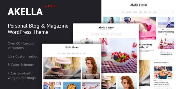 Akella - Personal Blog & Magazine WordPress Theme - Personal Blog / Magazine