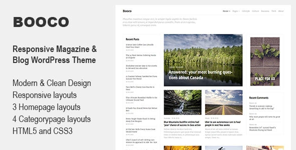 Booco - Responsive Magazine & Blog WordPress Theme - Blog / Magazine WordPress