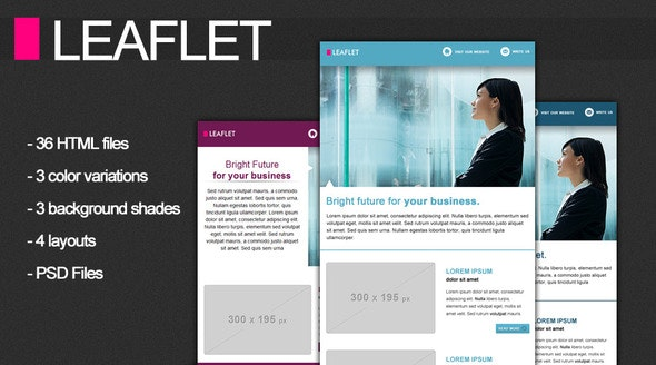 Leaflet Corporate Newsletter - Email Templates Marketing