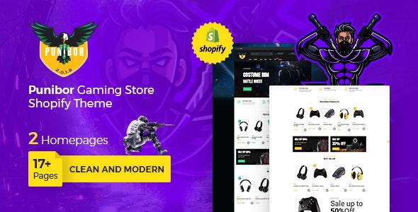 Punibor Gaming Store Shopify Theme - Entertainment Shopify