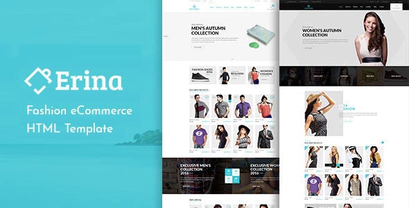 Erina - eCommerce Responsive Bootstrap Template - Fashion Retail