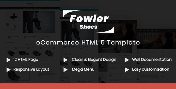 Fowler - Shoes Store HTML Template - Fashion Retail