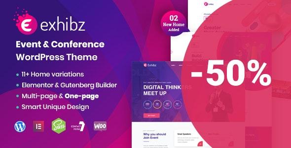 Exhibz | Event Conference WordPress Theme - Events Entertainment