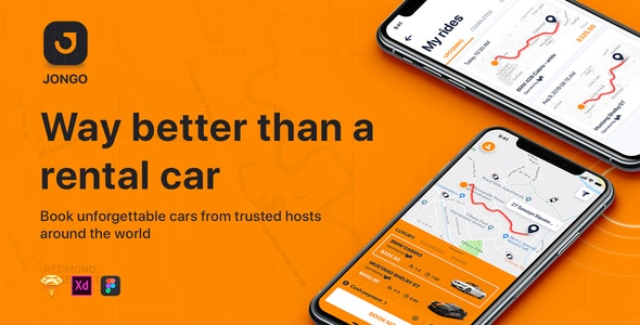 JONGO - Sketch Car Rental App - Sketch Templates