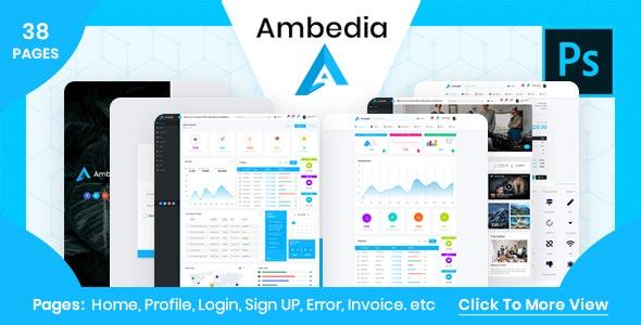 Ambedia - Admin Dashboard PSD Template - Software Technology