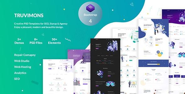 Truvimons | Creative Agency PSD Template - PSD Templates