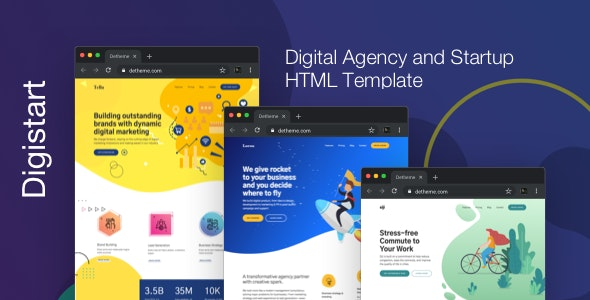 Digistart - Digital Company HTML Template - Business Corporate