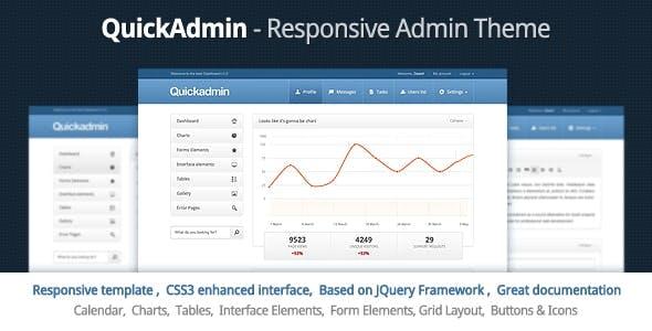 Quick Admin - Responsive HTML Template by webtunes | ThemeForest