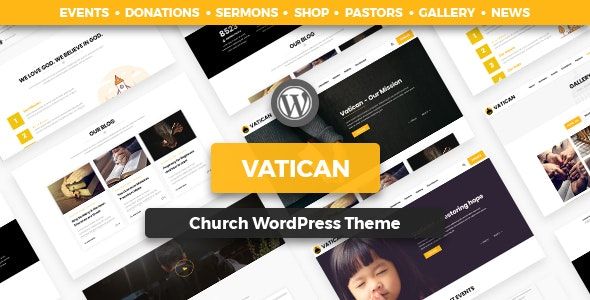 Vatican - Church WordPress Theme - Churches Nonprofit