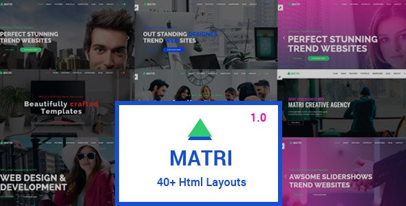Matri | Responsive MultiPurpose HTML5 Website Template - Business Corporate