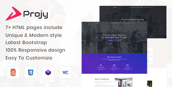 Projy - Multipurpose Responsive Template - Corporate Site Templates
