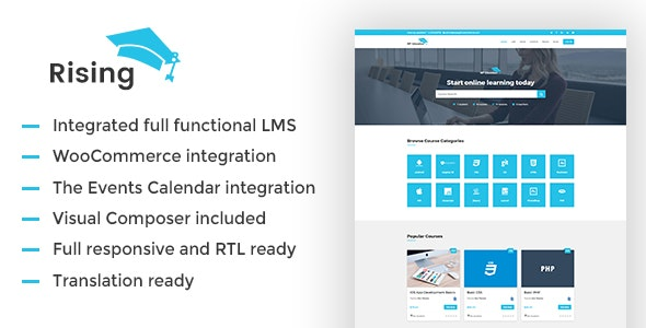 Rising –  LMS WordPress Theme - Education WordPress