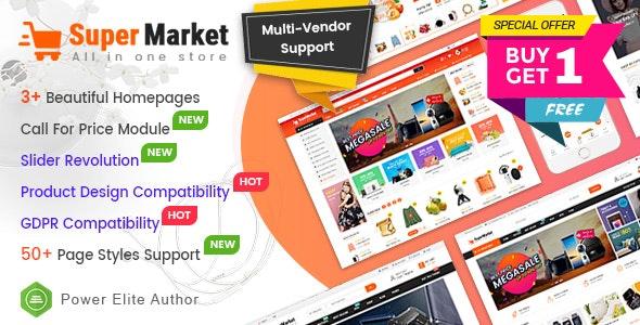 SuperMarket - Multi-purpose Responsive OpenCart 3 Theme (3+ Mobile Layouts Ready) - OpenCart eCommerce