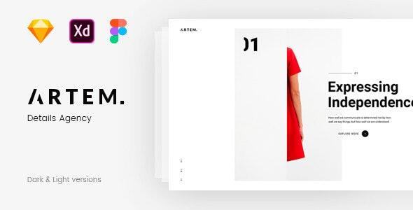 ARTEM – Digital Agency Sketch Template - Business Corporate
