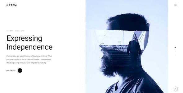 ARTEM – Digital Agency Sketch Template