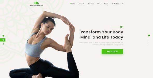 Aptitudo Fitness - Gym, Yoga & Fitness PSD Template