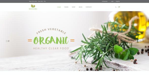 Fresode - Organic Store PSD Template